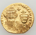 Ancients:Byzantine, Ancients: Constans II Pogonatus (AD 641-668), with Constantine IV.AV solidus (4.40 gm). ...