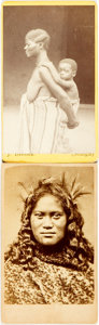 Photography:CDVs, [Cartes de Visite] Pair of Cartes de Visite Depicting Ethnic African Women. 1860s-1880s. Some soiling and edgewear. Very goo...