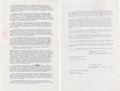 Books:Manuscripts, Edgar Rice Burroughs [1875-1950, American novelist]. Signed Contract for The First Trade Edition of The Land That Time F...
