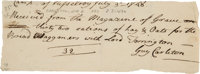 Guy Carleton, Lord Dorchester, Autograph Document Signed