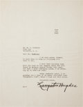 Autographs:Authors, Langston Hughes Typed Letter Signed....