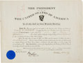 Autographs:U.S. Presidents, William McKinley Military Appointment Signed....