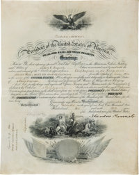 Theodore Roosevelt Naval Appointment Signed