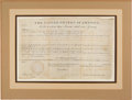 Autographs:U.S. Presidents, Andrew Jackson Land Grant Signed....