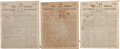 Miscellaneous:Newspaper, [Alexander Hamilton and Aaron Burr]. Three Issues of theColumbia Repository.... (Total: 3 Items)