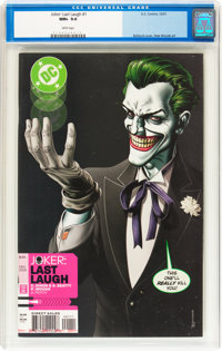 Joker: Last Laugh #1 (DC, 2001) CGC NM+ 9.6 White pages