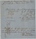 Autographs:Military Figures, Confederate General Mansfield Lovell Endorsement Signed...
