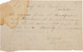 Autographs:Military Figures, Confederate General Henry Heth Autograph Note Signed...