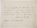 Autographs:Statesmen, Edward Everett Autograph Quotation Signed....