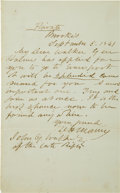 "Autographs:Military Figures, Confederate Major General Dabney H. Maury Autograph Letter Signed ""DH Maury.""..."