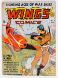 Golden Age (1938-1955):War, Wings Comics #15 (Fiction House, 1941) Condition: QualifiedVG/FN....