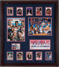 """Basketball Collectibles:Others, Early 1990's """"Dream Team"""" Multi Signed Framed Display...."""