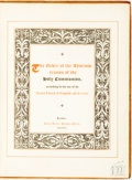 Books:Religion & Theology, [Featured Lot] The Order of the Administration of the Holy Communion, according to the Use of the United Church of Engla...