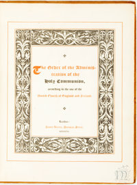 [Featured Lot] The Order of the Administration of the Holy Communion, according to the Use of the United Church