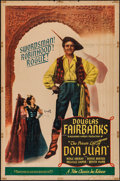 "Movie Posters:Adventure, The Private Life of Don Juan (Film Classics, R-1947). One Sheet(27"" X 41""). Adventure.. ..."