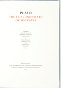 Books:World History, [Limited Editions Club] Hans Erni, illustrator. SIGNED. Plato. The Trial and Death of Socrates. Limited Editions Clu...