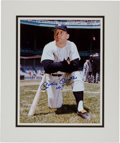 "Baseball Collectibles:Photos, Circa 1990 Mickey Mantle Signed Oversized Photograph With ""No. 7""Inscription. ..."