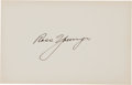 Autographs:Others, 1920's Ross Youngs Signed Blank Card, PSA/DNA Mint 9....