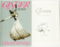 Books:Biography & Memoir, Ginger Rogers. SIGNED. Ginger. My Story. New York: HarperCollins, [1991]. First edition. Signed by the author. P...
