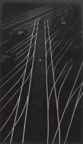 Photographs:Gelatin Silver, W. EUGENE SMITH (American, 1918-1978). Train Tracks, from thePittsburgh Essay, 1955-56. Vintage gelatin silver . 13-1/2...