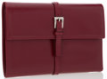 """Luxury Accessories:Accessories, Prada Burgundy Leather Trifold Wallet. Very Good Condition. 6""""Width x 3.5"""" Height x 1"""" Depth. ..."""