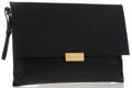 "Luxury Accessories:Bags, Stella McCartney Black Vegan Leather Clutch Bag. Very GoodCondition . 12"" Width x 8.5"" Height x .5"" Depth . ..."
