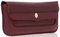 """Luxury Accessories:Bags, Cartier Burgundy Leather Clutch Bag. Good to Very GoodCondition. 11"""" Width x 6.5"""" Height x 1.5"""" Depth. ..."""