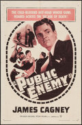 """Movie Posters:Crime, The Public Enemy (Warner Brothers, R-1954). One Sheet (27"""" X 41""""). Crime.. ..."""