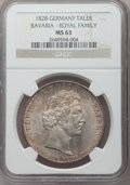 German States:Bavaria, German States: Bavaria. Ludwig I Taler 1828 MS63 NGC,...