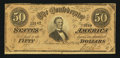 Confederate Notes:1864 Issues, T66 $50 1864 PF-16 Cr. UNL.. ...