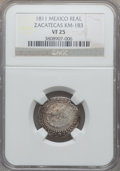 Mexico, Mexico: Revolutionary. Zacatecas Real 1811 VF25 NGC,...
