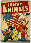 Golden Age (1938-1955):Funny Animal, Funny Animals #8 (Fawcett, 1943) Condition: FN....