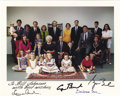 Autographs:U.S. Presidents, Presidents George H. W. Bush and George W. Bush Signed FamilyPhotograph...