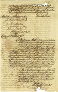 """Miscellaneous:Ephemera, Early Pennsylvania Power of Attorney Manuscript Document Signed,""""Hannah Harris,"""" two pages with docketing, 9"""" x 15"""", Ph...(Total: 1 Item)"""