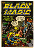 Golden Age (1938-1955):Horror, Black Magic V2#11 (Prize, 1952) Condition: FN-....