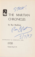 Books:Science Fiction & Fantasy, Ray Bradbury. The Martian Chronicles. Garden City: Doubleday& Company, Inc., 1950. First edition. Inscribed by Br...