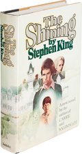 Books:Horror & Supernatural, Stephen King. The Shining. Garden City: Doubleday & Company, Inc., 1977. First edition. Inscribed by King on the f...