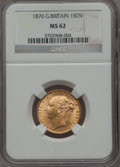 Great Britain, Great Britain: Victoria gold Sovereign 1876 MS62 NGC,...