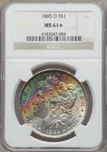1885-O $1 MS61★ NGC. NGC Census: (683/216644 and 13/1488*). PCGS Population: (1073/186982 and 13/1488*). MS61. Mintage 9...