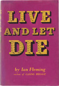 Books:Literature 1900-up, Ian Fleming. Live and Let Die. London: Jonathan Cape,[1954]. First edition, first impression, first issue, first st...