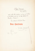 Books:Music & Sheet Music, [Jules Massenet, composer]. Don Quichotte. Paris: Au Ménestrel, 1910. ...