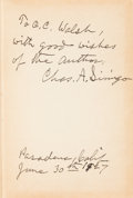 Books:Biography & Memoir, Charles A. Siringo. INSCRIBED. Riata and Spurs. Boston andNew York: Houghton Mifflin Company, 1927....