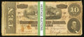 Confederate Notes:1864 Issues, T68 $10 1864, Thirty-Four Examples.. ... (Total: 34 notes)