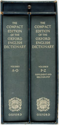 Books:Reference & Bibliography, [Dictionary] The Compact Edition of the Oxford EnglishDictionary. Oxford University Press, 1971. Two volumes.Origi... (Total: 2 Items)