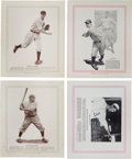 Baseball Cards:Sets, Scarce 1933 Blum's Publishing Baseball Near Set (11/16) With Gehrig, Alexander, Grove and Wagner. ...