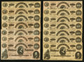 Confederate Notes:1864 Issues, T65 $100 1864 PF-3 Cr. 494 Twenty-three Examples.. ... (Total: 23 notes)