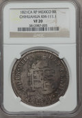 Mexico, Mexico: Chihuahua. Revolutionary Counterstamped 8 Reales 1821 CA-RPVF20 NGC,...