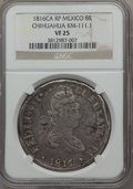 Mexico, Mexico: Chihuahua. Revolutionary Counterstamped 8 Reales 1816 CA-RPVF25 NGC,...