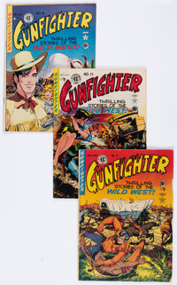 Gunfighter #9, 11, and 12 Group (EC, 1949-50).... (Total: 3 Comic Books)