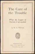 Books:Philosophy, H. G. Wells. The Core of the Trouble. New York: 1918....